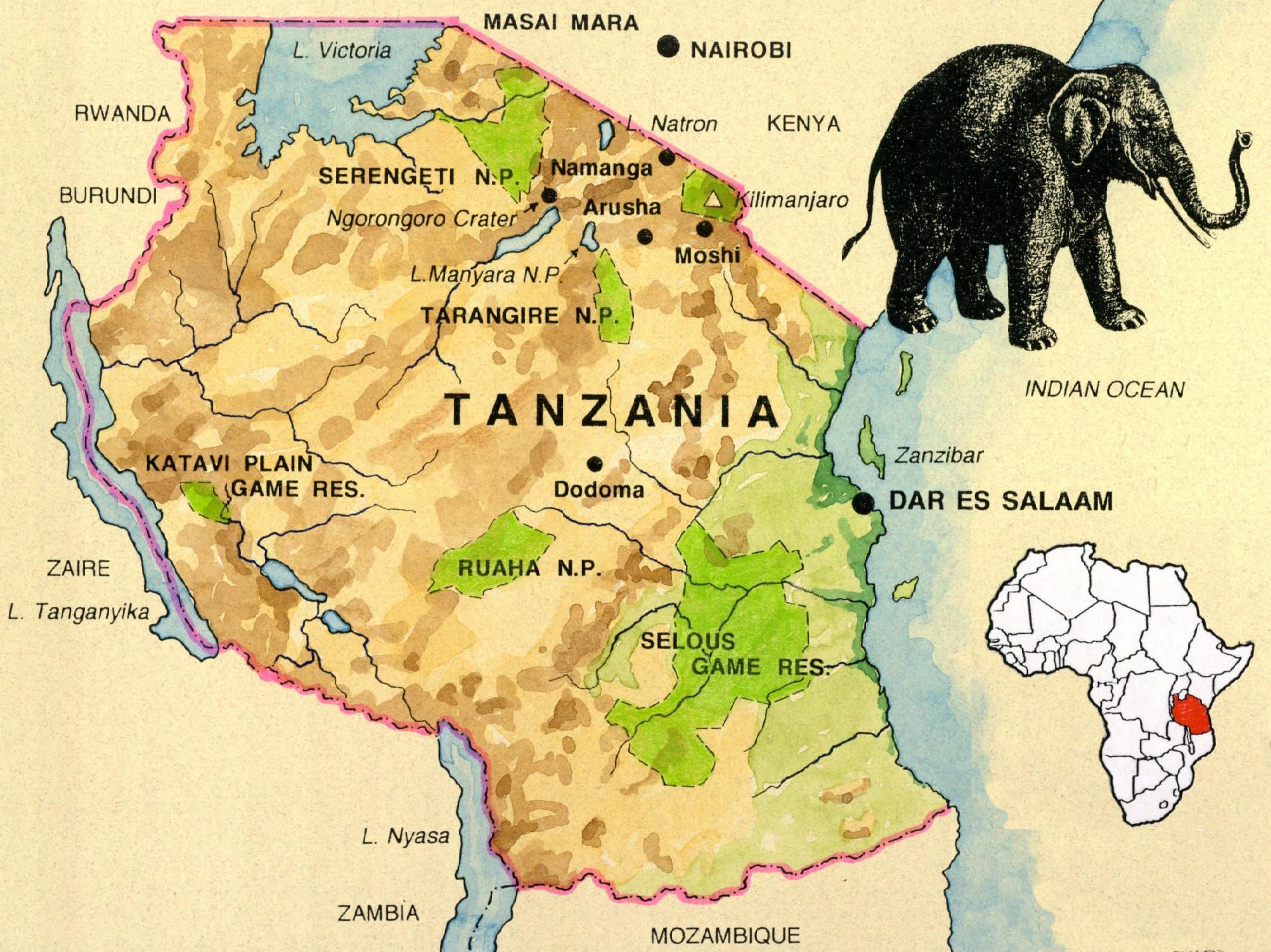 Dawn On The Serengeti Photos From Our Safari In Tanzania - Map of tanzania